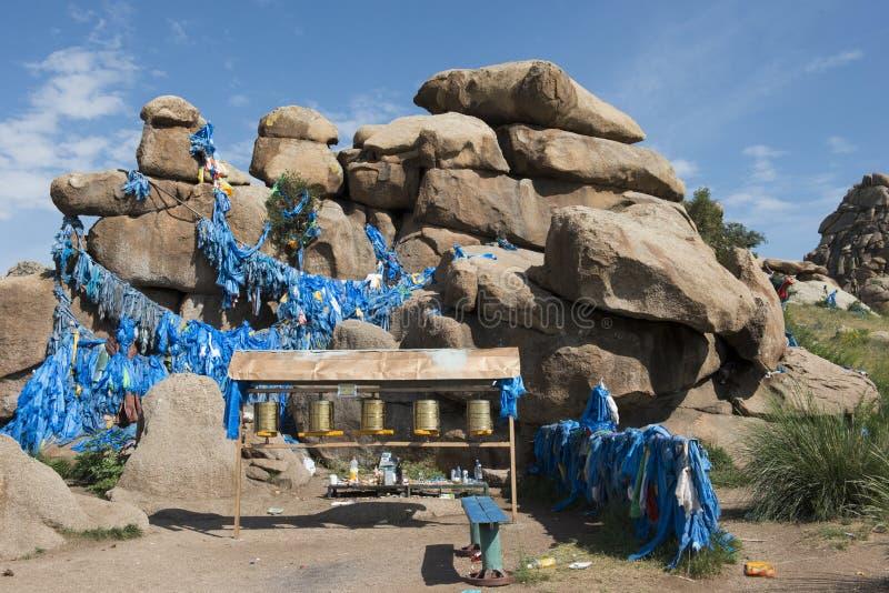 Festival pequeno da senhora na maneira no Mongolian fotos de stock