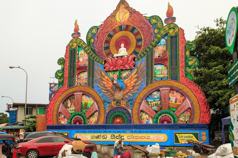 Festival Pettah de Vesak 2018 - Colombo - Sri Lanka imagem de stock