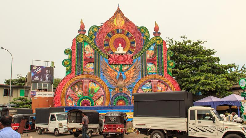 Festival Pettah di Vesak i 2018 - Colombo - Sri Lanka immagine stock