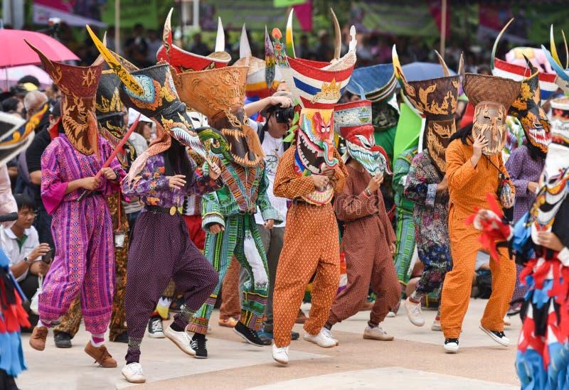 festival Phi Ta Khon 2017 d'amusement photographie stock libre de droits