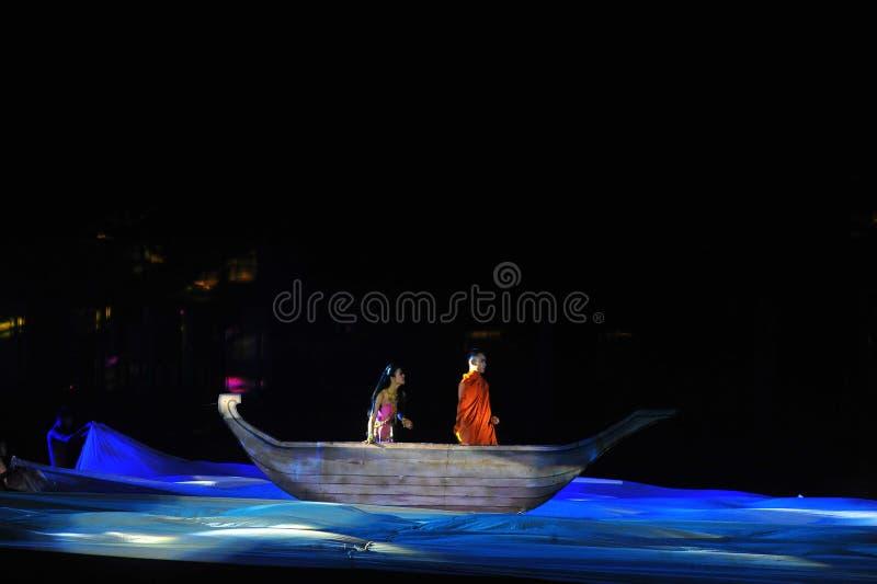 Festival Phimai 2019 au parc historique de Phimai photo libre de droits