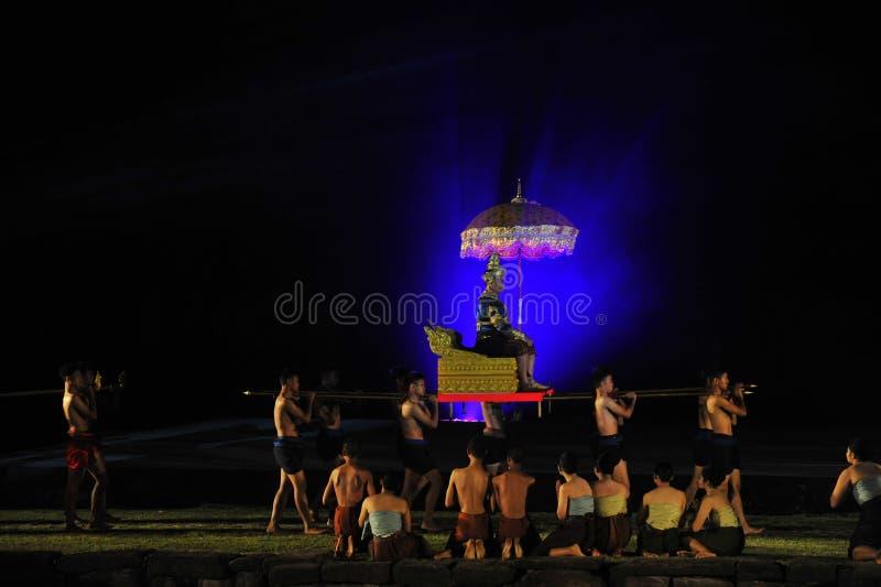 Festival Phimai 2019 au parc historique de Phimai image libre de droits