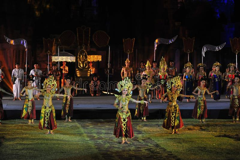 Festival Phimai 2019 au parc historique de Phimai images libres de droits