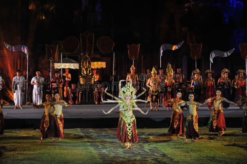 Festival Phimai 2019 au parc historique de Phimai image stock