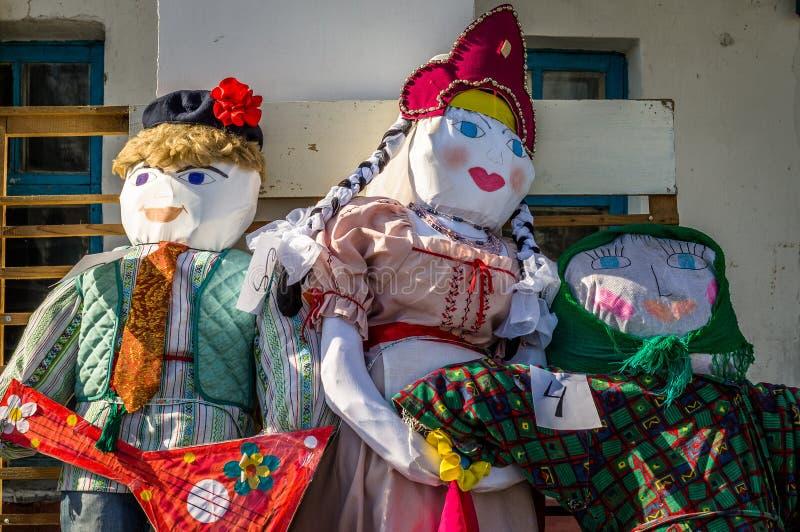 Festival piega russo di inverno nella regione di Kaluga il 13 marzo 2016 immagini stock