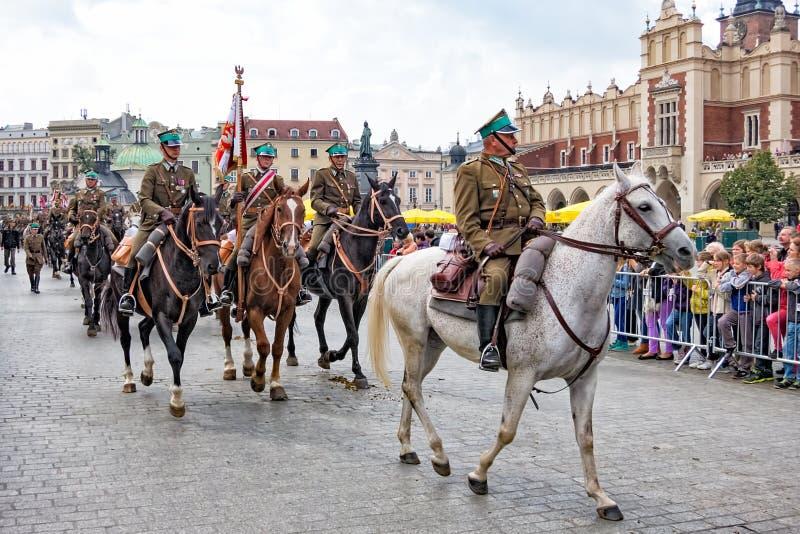 Festival polonês da cavalaria, Krakow, Polônia fotografia de stock royalty free