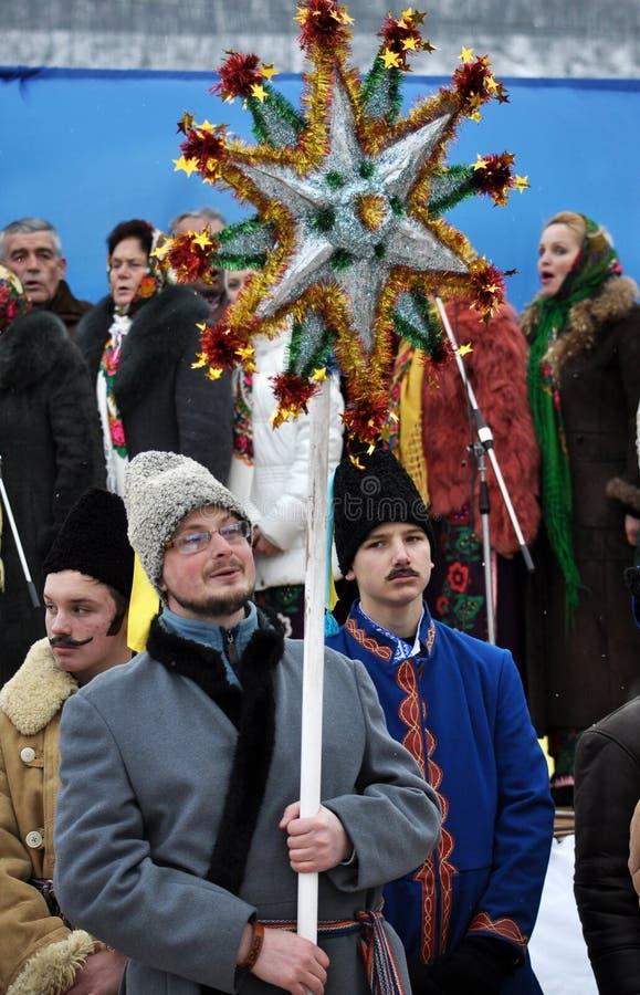 Festival popular Malanka_6 foto de archivo