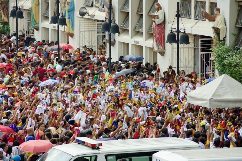 Festival preto do Nazarene no distrito de Quiapo imagens de stock