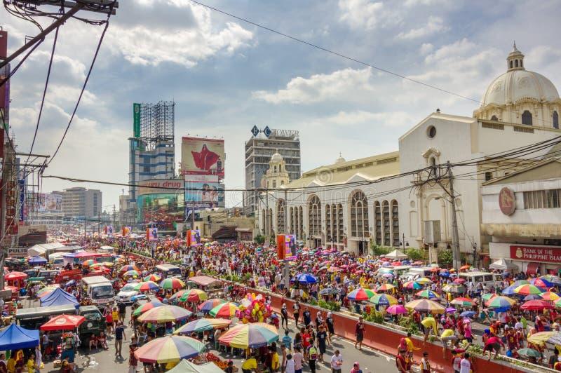 Festival preto do Nazarene no distrito de Quiapo fotos de stock royalty free