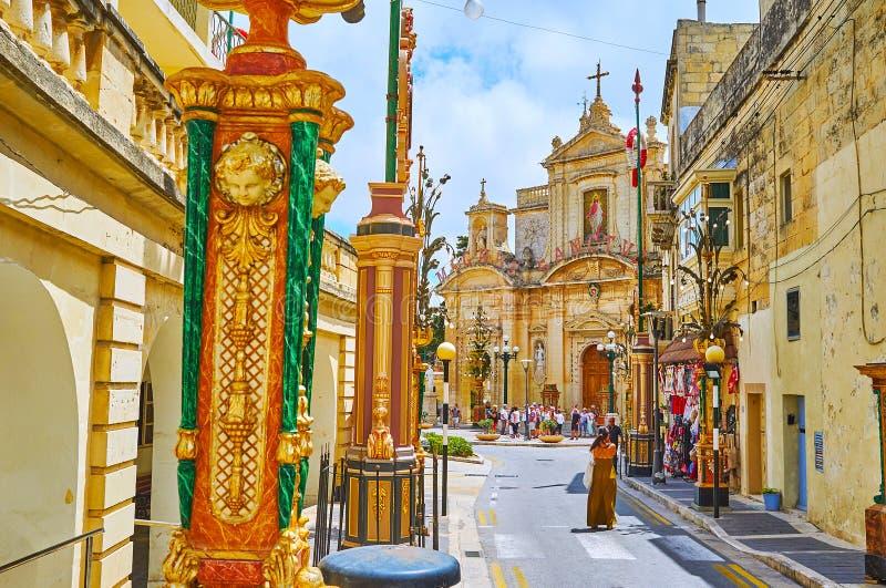 Festival in Rabat Malta lizenzfreie stockfotos