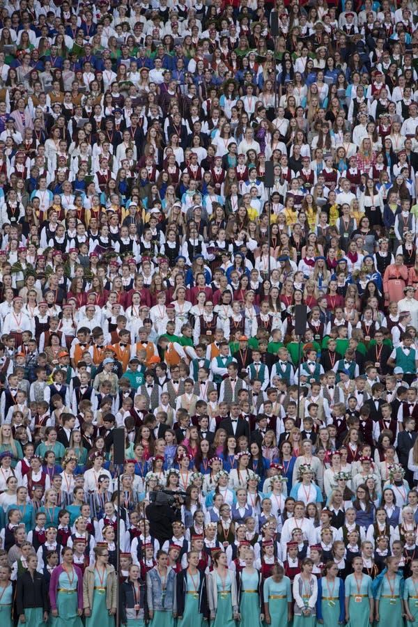 Festival Riga da música latvia imagem de stock
