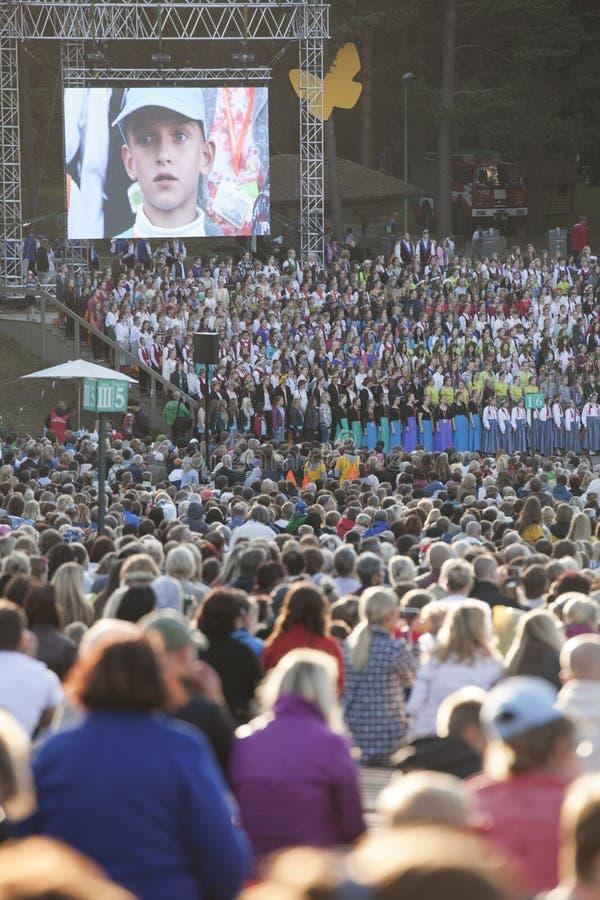 Festival Riga de la canción latvia imagen de archivo libre de regalías