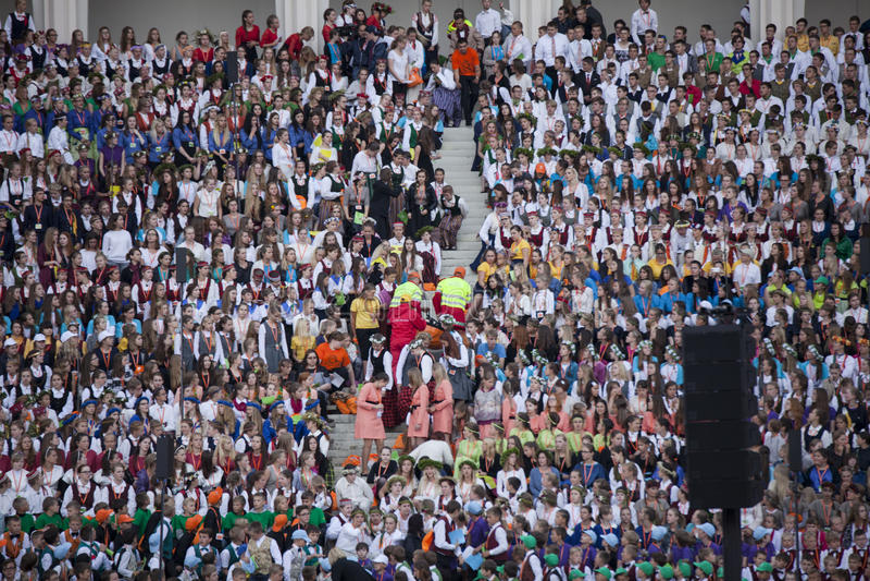 Festival Riga di canzone latvia fotografia stock
