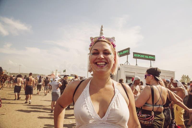 Festival rock di Woodstock Polonia che celebra ospite immagine stock