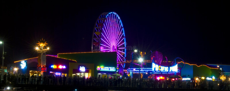 Festival Santa Monica di incandescenza 08 fotografia stock