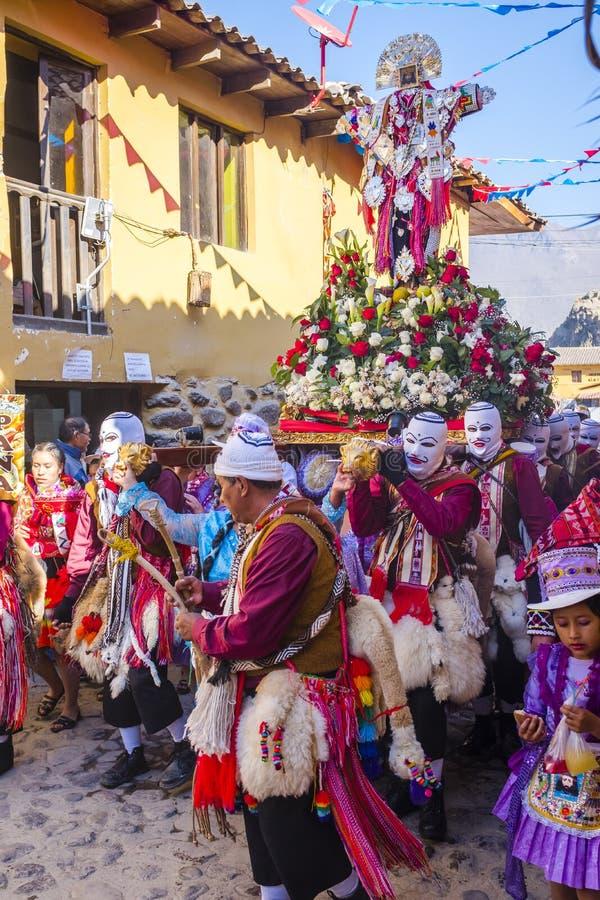 Festival Señor de Choquekillka dans Ollantaytambo photos libres de droits