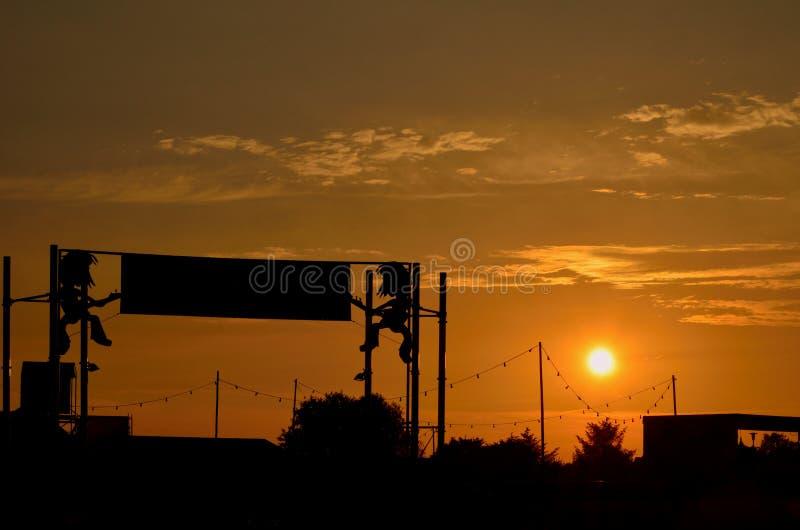Festival Sonnenuntergang fotografia de stock royalty free