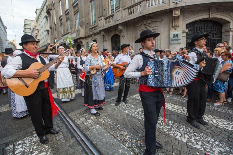 Festival of St John Festa de Sao Joao. PORTO, PORTUGAL - JUN 25, 2017: Festival of St John Festa de Sao Joao. Happens every year and has the status of the city` royalty free stock images