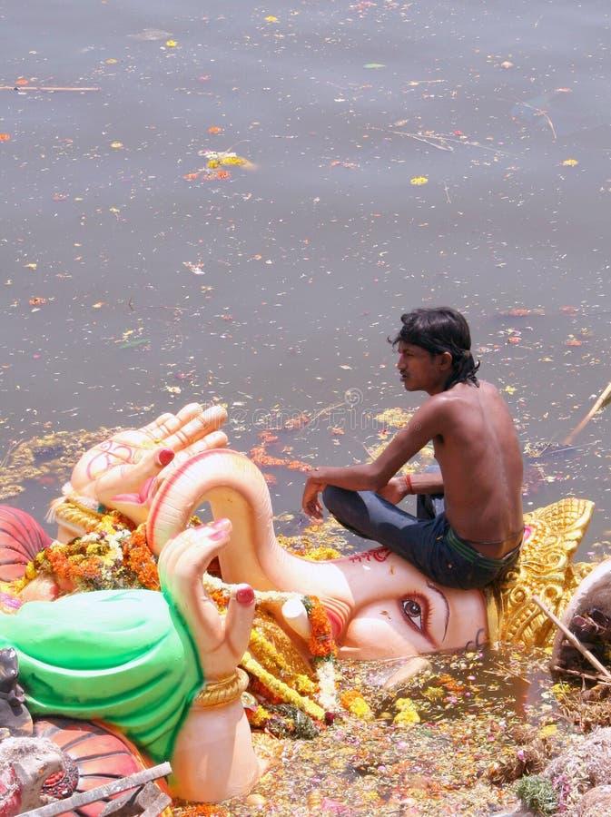 Festival Submersion-Indou de Ganesh photo stock