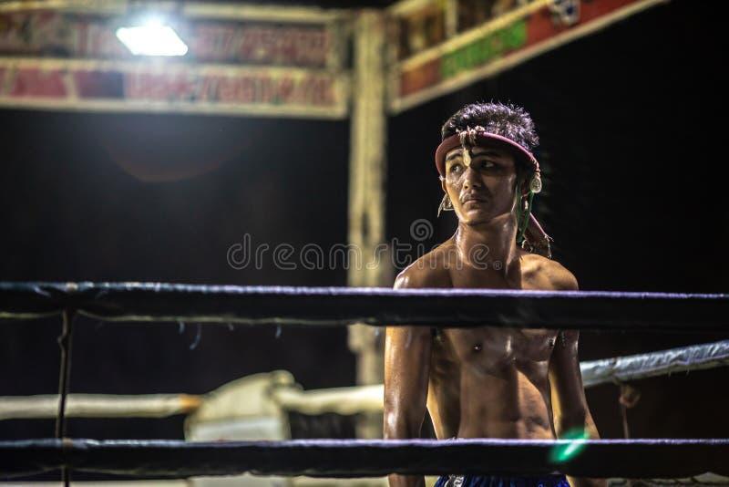 Festival tailandés de los boxeadores foto de archivo libre de regalías