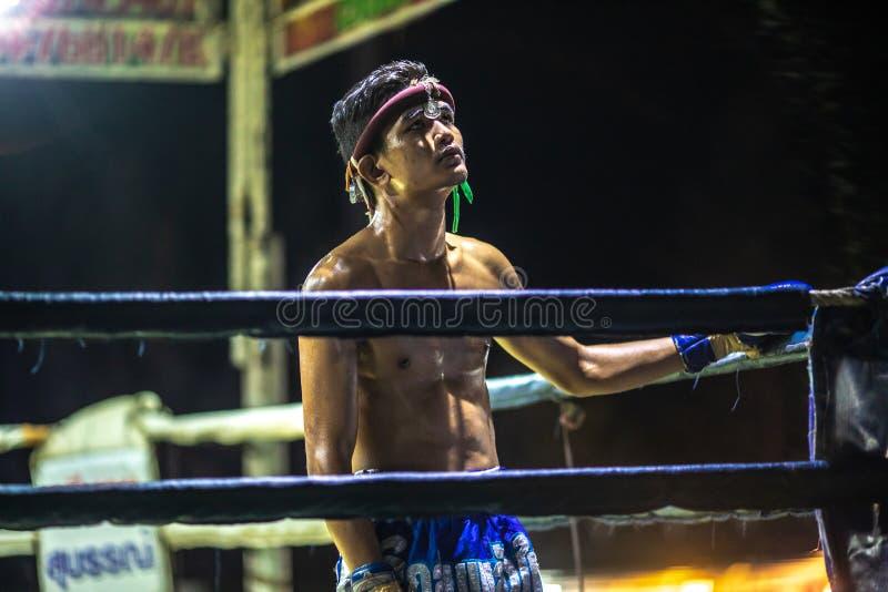 Festival tailandés de los boxeadores fotografía de archivo