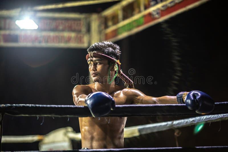 Festival tailandés de los boxeadores imagenes de archivo