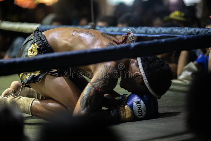 Festival tailandés de los boxeadores imágenes de archivo libres de regalías