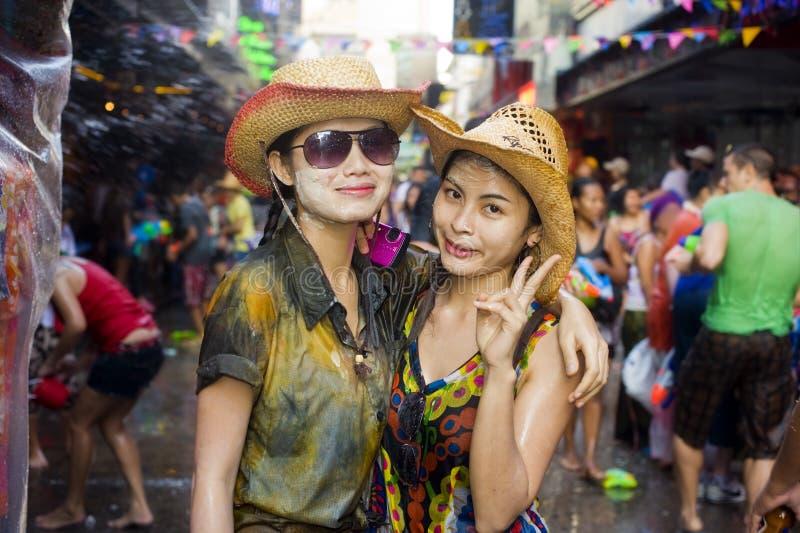 Festival tailandés del Año Nuevo fotos de archivo