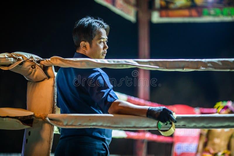 Festival tailandês dos pugilistas em Tailândia imagem de stock