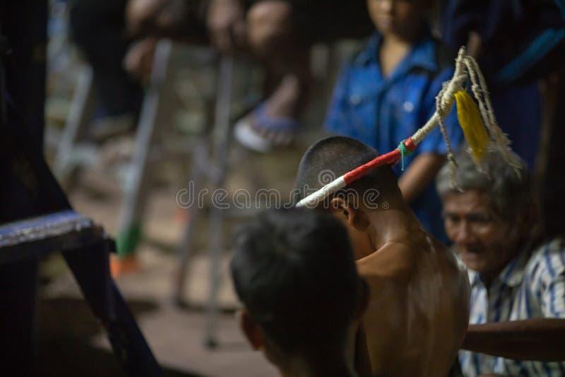 Festival tailandês dos pugilistas foto de stock royalty free