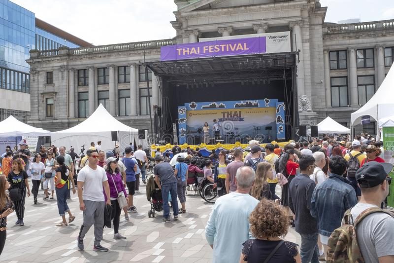 Festival tailandese 2019, Vancouver, BC fotografia stock libera da diritti
