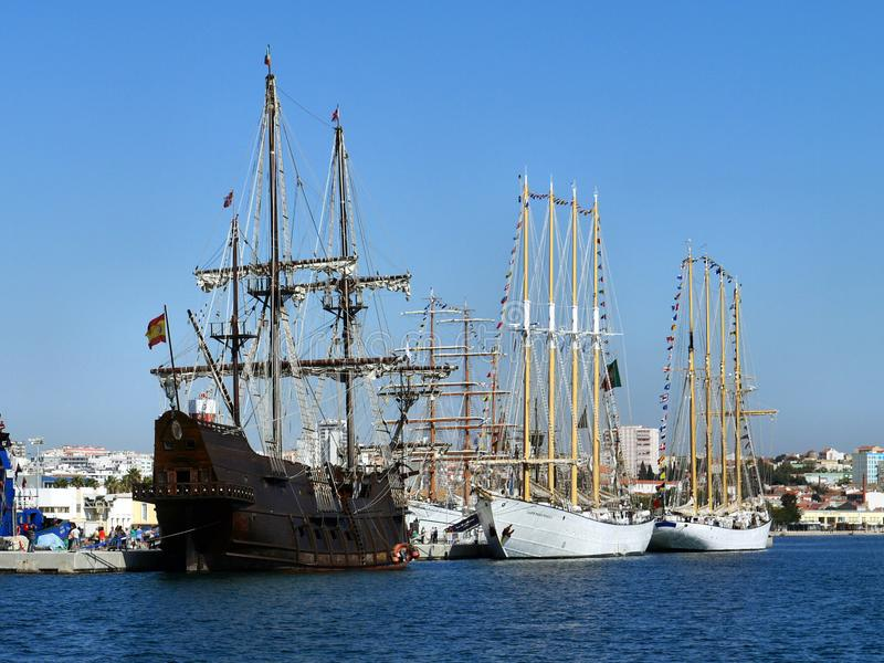 Festival of Tall Ships in Setubal. royalty free stock photography