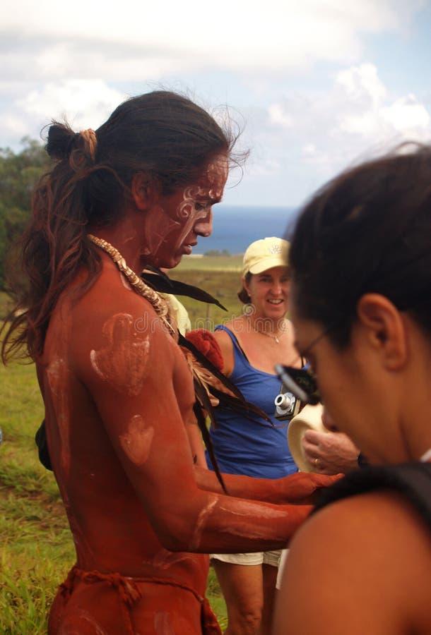Festival Tapati - île de Pâques photo stock