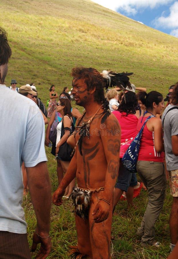 Festival Tapati - isla de pascua fotografía de archivo
