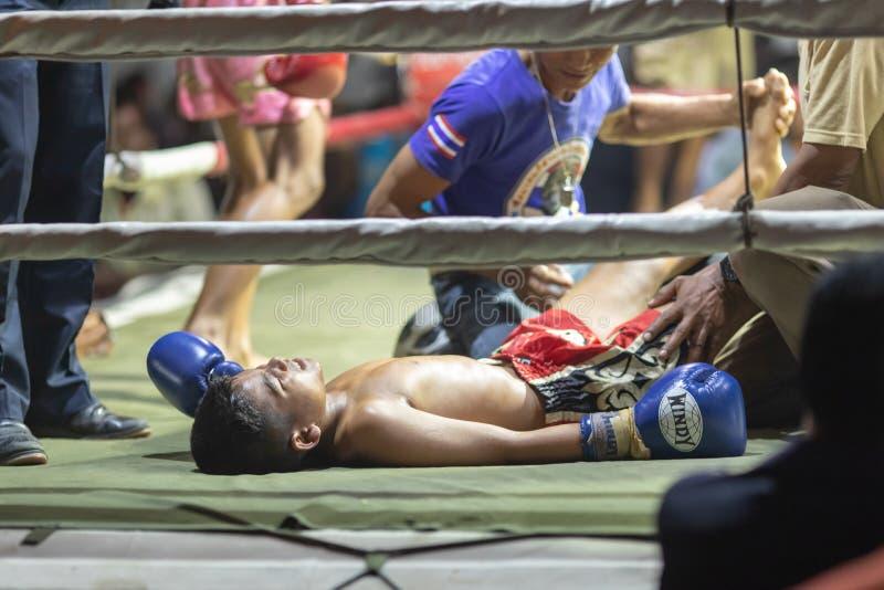 Festival thaïlandais de boxeurs photo stock