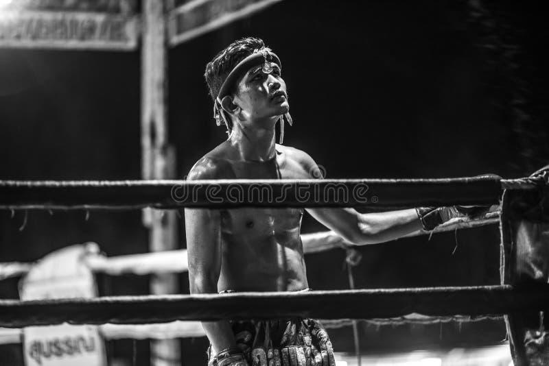 Festival thaïlandais de boxeurs image libre de droits