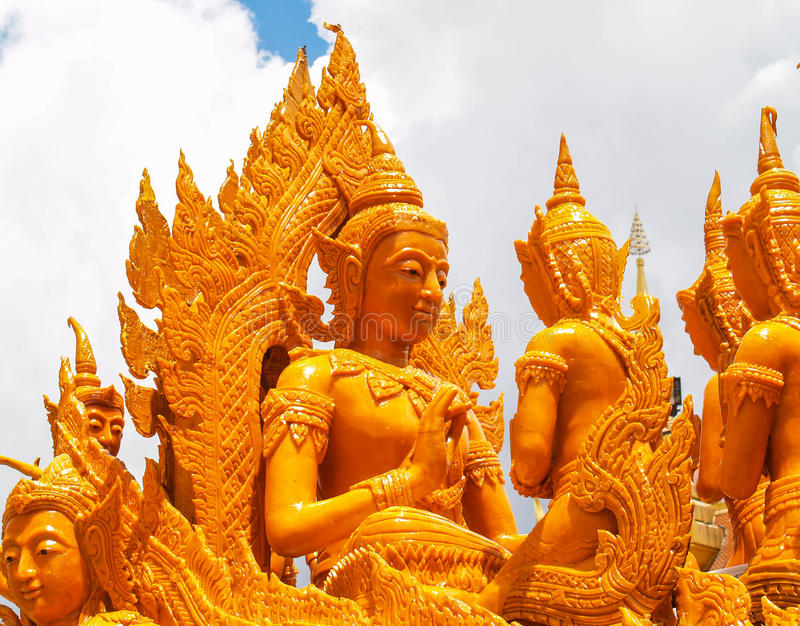 Festival Ubon Tailândia da vela fotos de stock