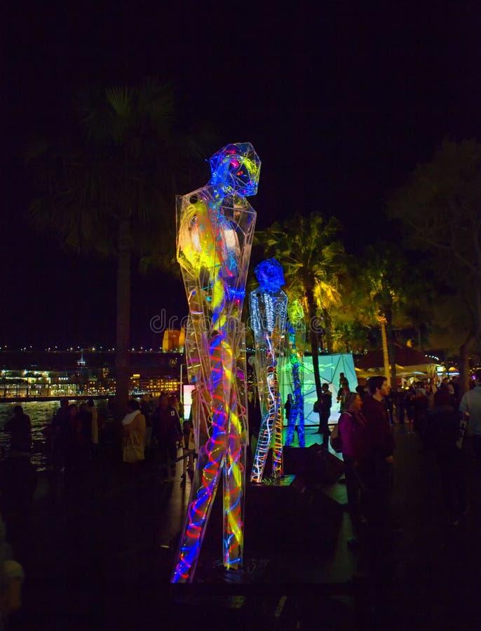 Festival VÍVIDO Sydney fotos de stock royalty free