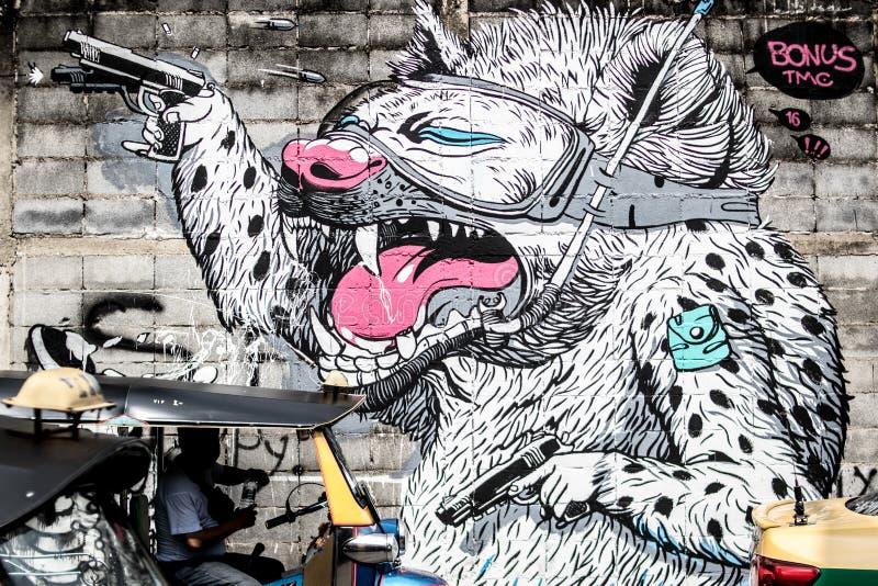 Festival van Bukruk het Stedelijke Kunsten, Bukruk, Thailand stock afbeelding