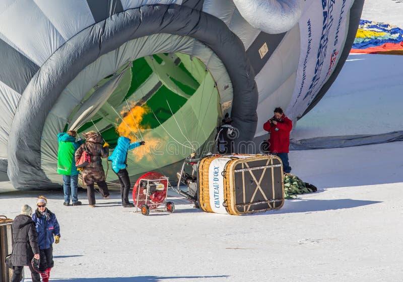 festival van de Ballon van de Hete Lucht van 2013 het 35ste, Zwitserland royalty-vrije stock foto