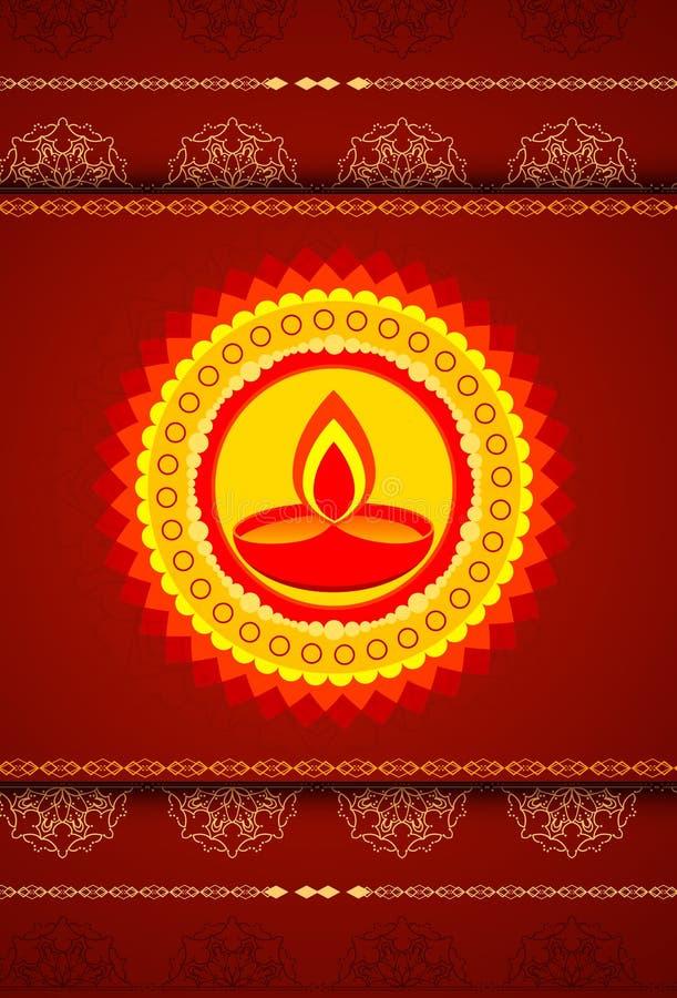 Festival van kleuren - aarden lamp, Diwali vector illustratie