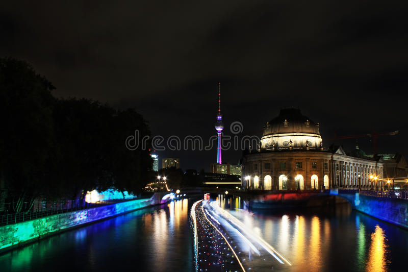 Festival van Lichten Berlijn stock foto