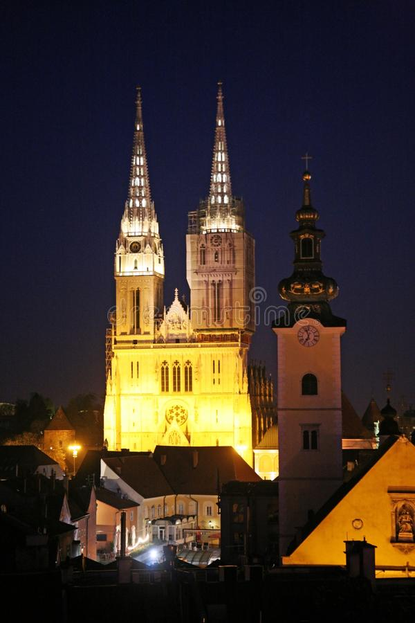Festival van Lichten in Zagreb, Kroatië, Europa, details7 stock foto