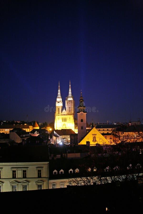Festival van Lichten in Zagreb, Kroatië, Europa, details6 stock foto