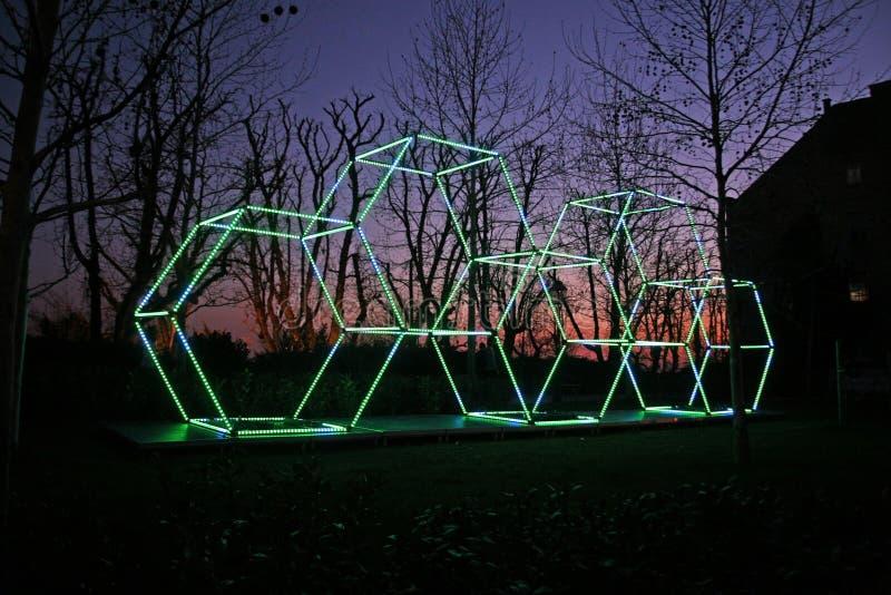Festival van Lichten in Zagreb, Kroatië, Europa, details3 royalty-vrije stock fotografie