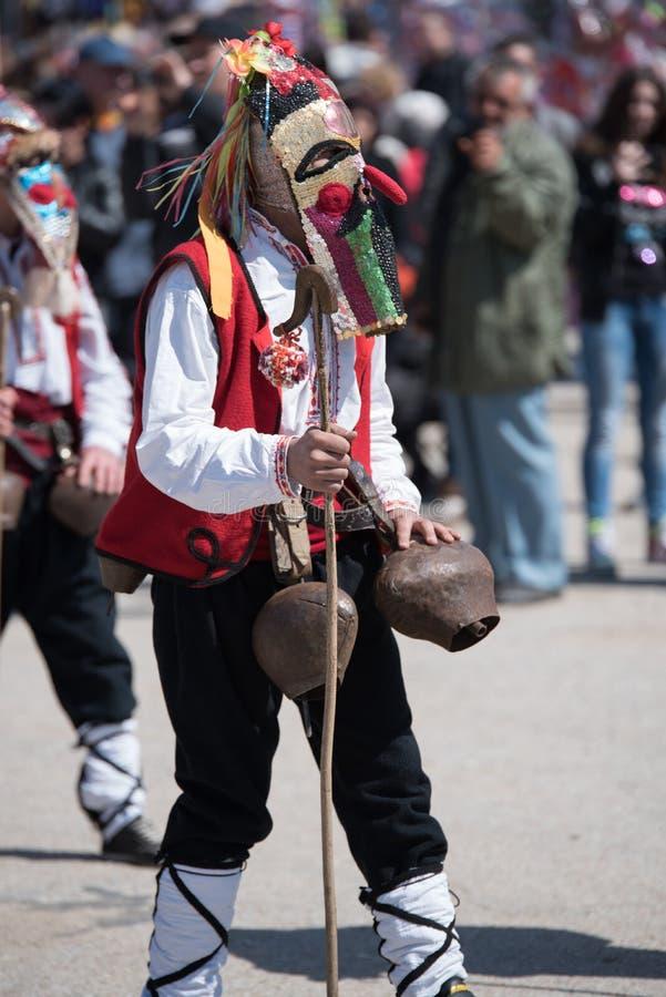 Festival van Mummers in Paisievo, Bulgarije stock fotografie