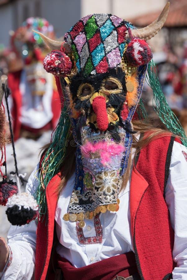 Festival van Mummers in Paisievo, Bulgarije royalty-vrije stock foto