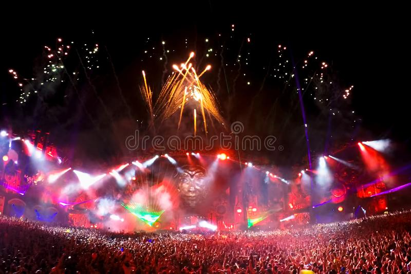 Festival van Muziek in Thailand modieuze moderne tendensen in openluchtmuziek voor alle mensen royalty-vrije stock foto