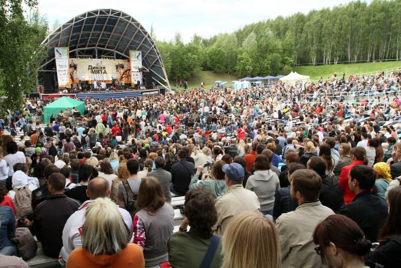 Festival van volksmuziek Wilde Munt royalty-vrije stock afbeeldingen