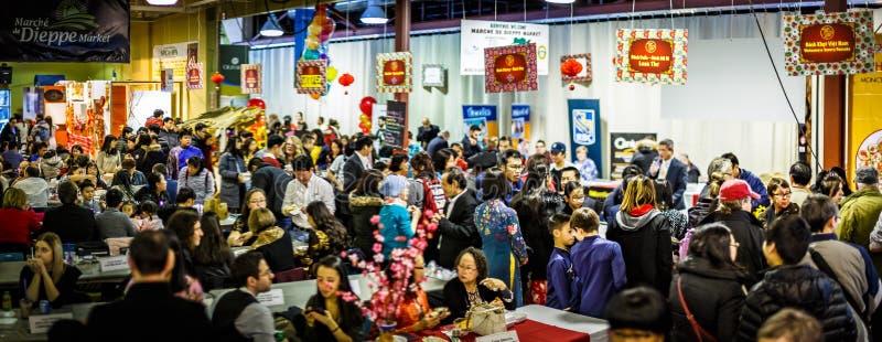 Festival vietnamita del nuovo anno in Moncton, Nuovo Brunswick, Canada fotografia stock libera da diritti